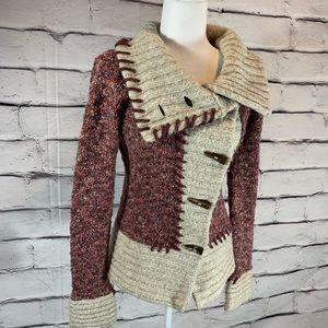 {BKE} toggle closer sweater jacket